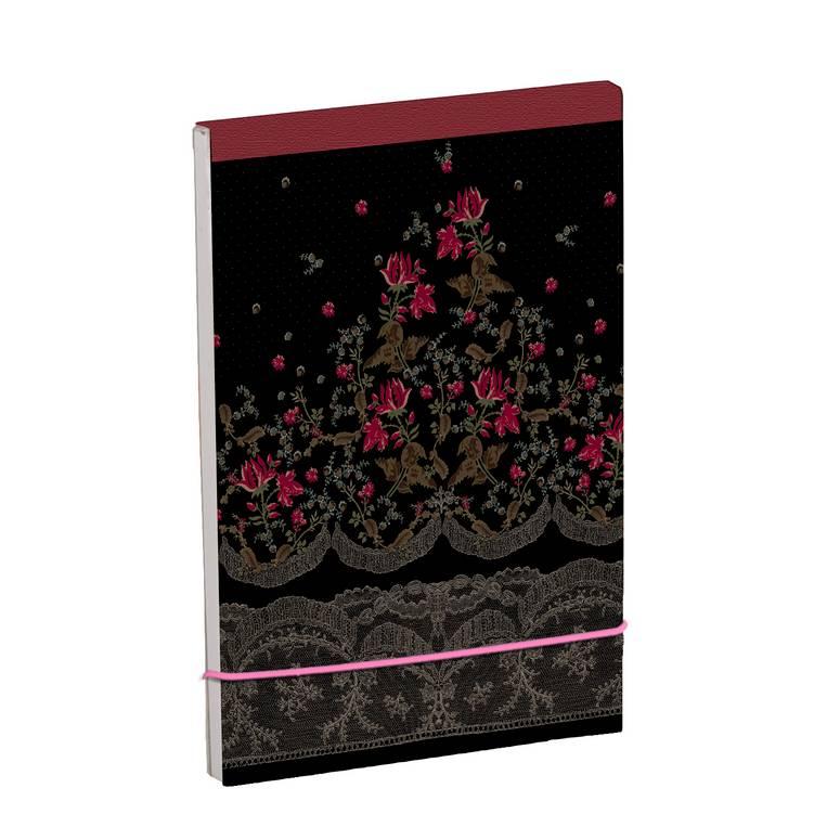 Bloc shopping couverture enveloppante et fermeture glissée 8x12cm 100 pages uni