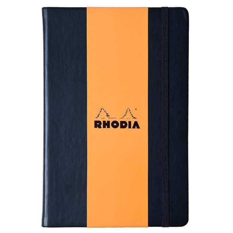 Webnotebook BLACK A4 192p uni papier ivoire Clf 90g fermeture élastique
