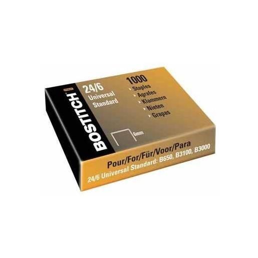 Boite de 1000 Agrafes 24/6 Standard - boîte de 1000