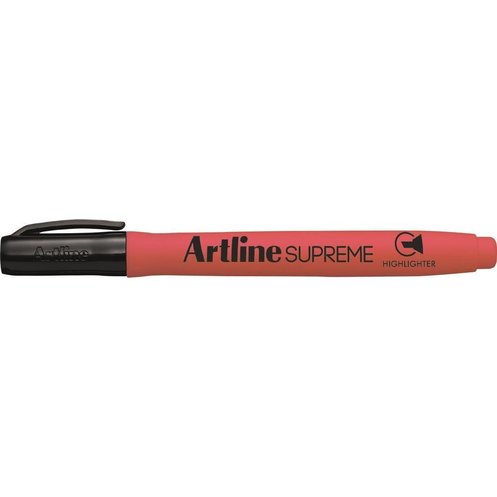 Surligneur highlighter 'Supreme EPF-600' pointe biseautée 1 & 4 mm rouge fluo