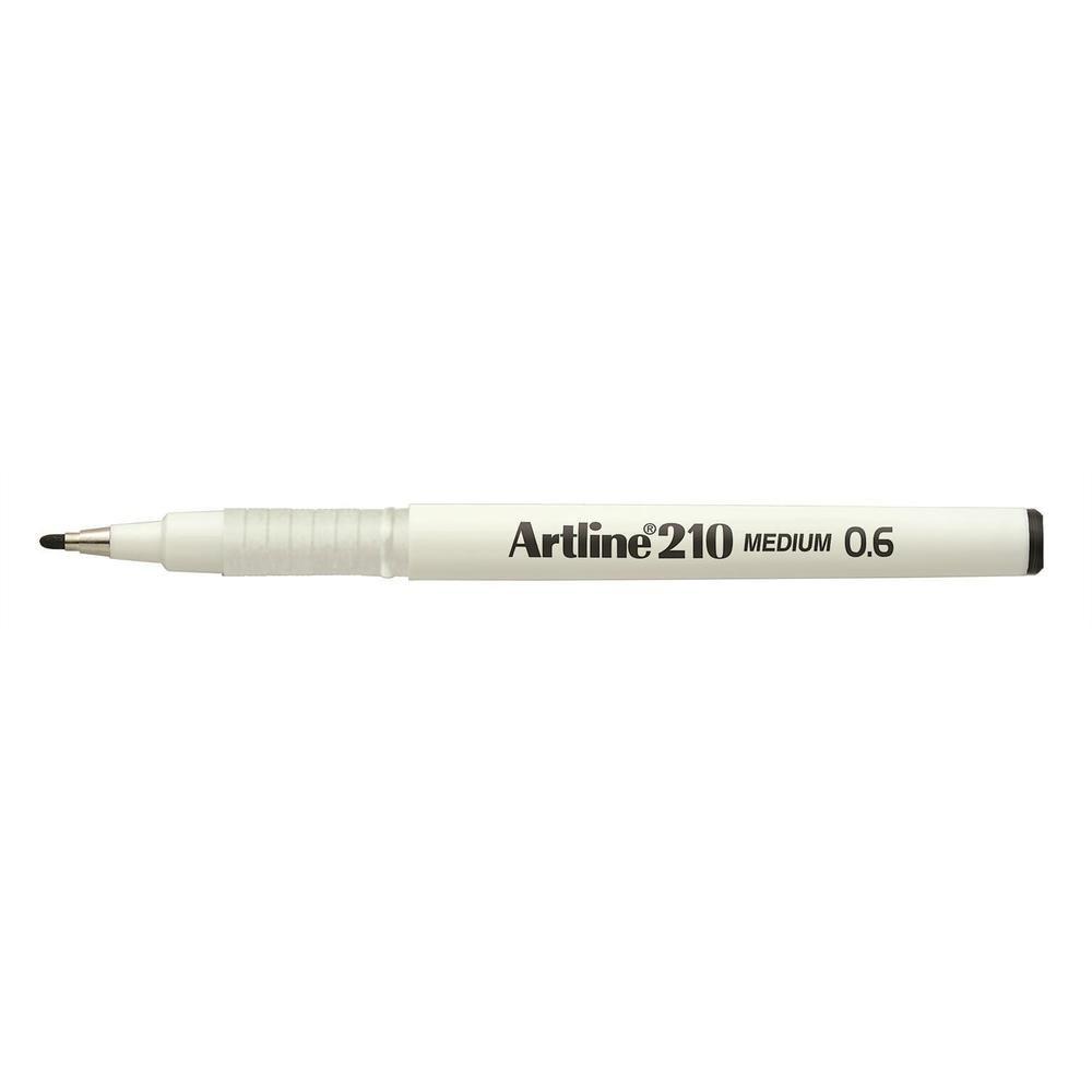 Stylo Feutre '210' permanent indélébile pointe 0,6 mm noir