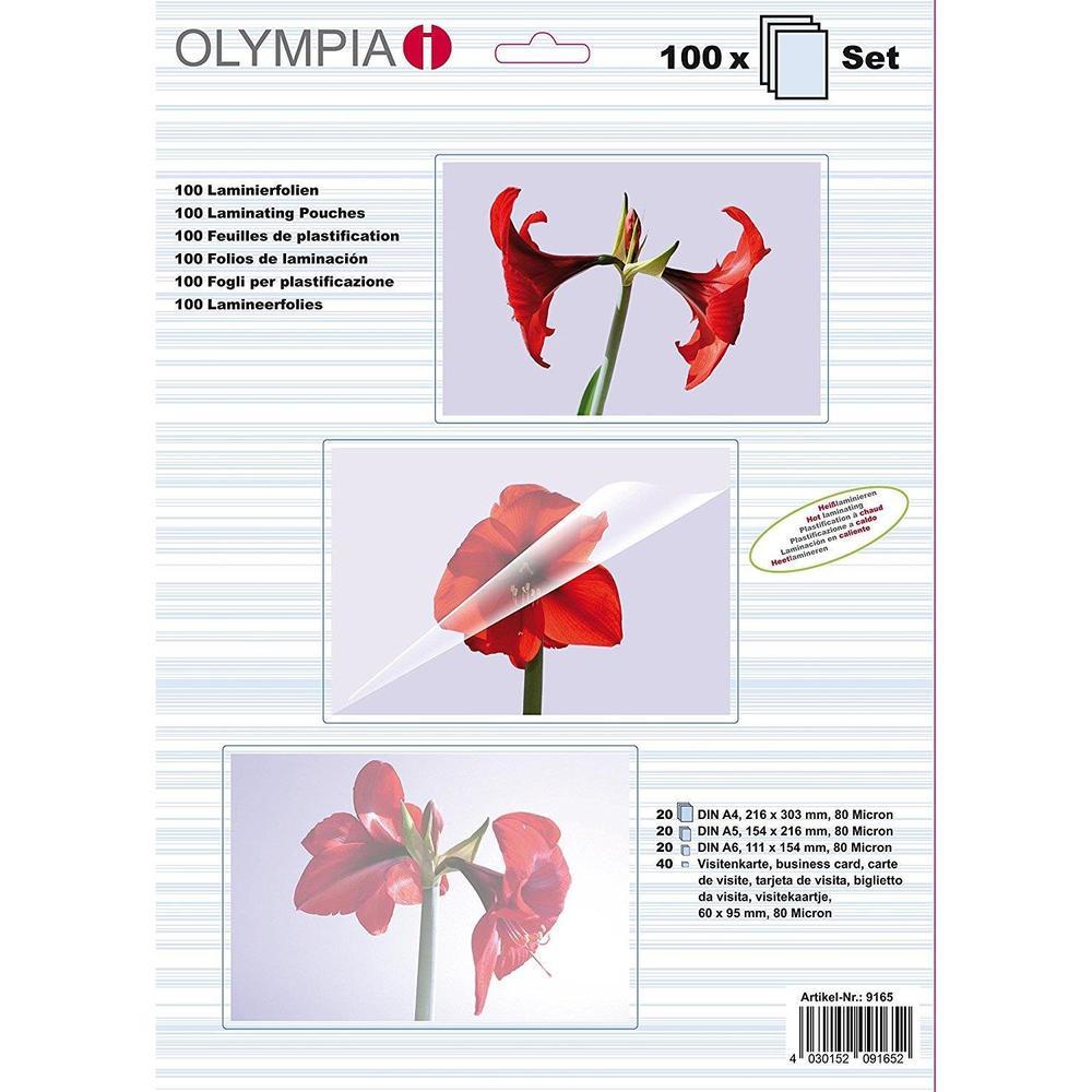 Kit Démarrage 100 Pochettes de Plastification 80 mic A4/A5/A6 et CV