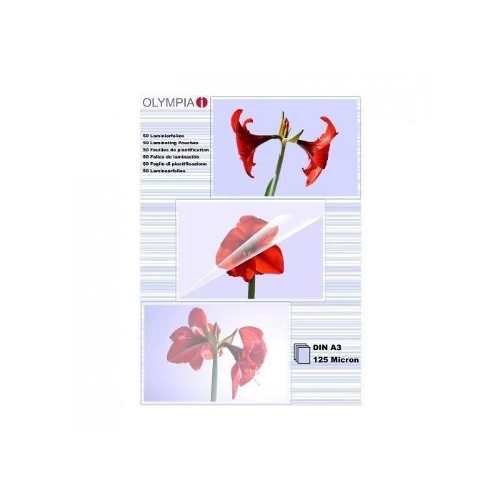 Pochettes de plastification DIN A3 125 micron - Paquet de 50