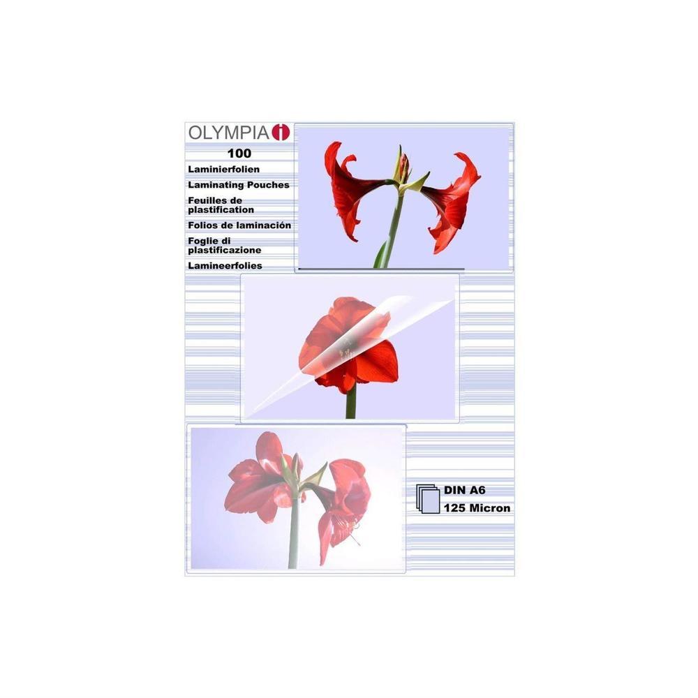 Pochettes de plastification A6 125 micron - paquet de 100