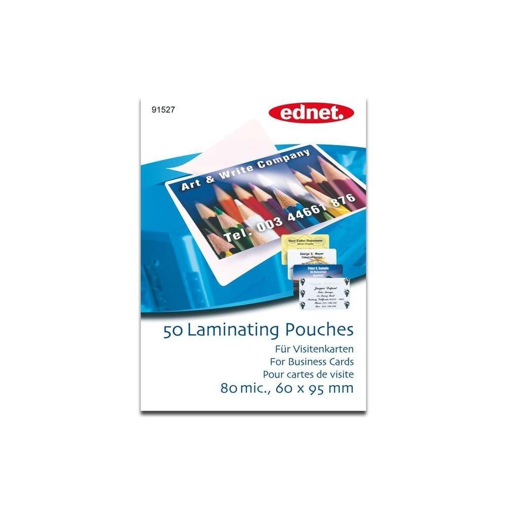 Pochettes de plastification Cartes de visite 60 x 95 mm - par lot de 50