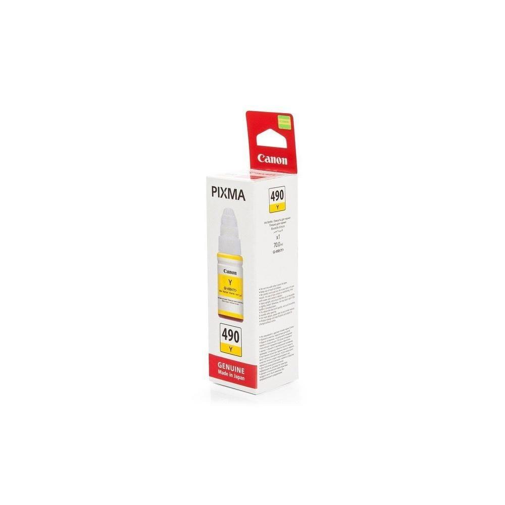 Flacon Encre Original GI-490 Y 0666C001 70 ml Jaune