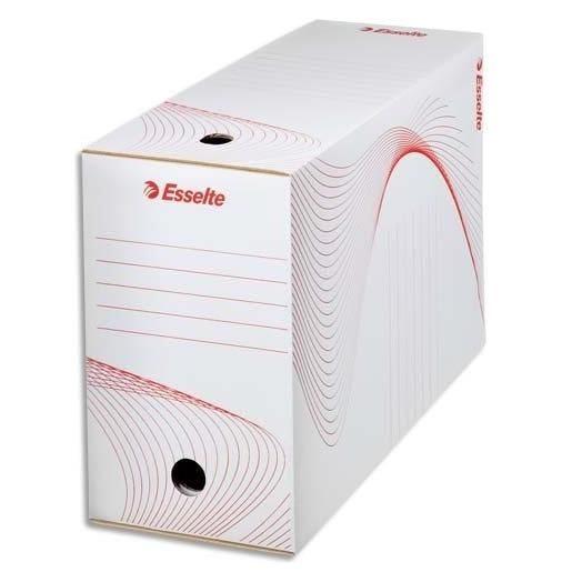Boîte d'archivage carton 25 x 35 cm Dos de 150 mm Blanc