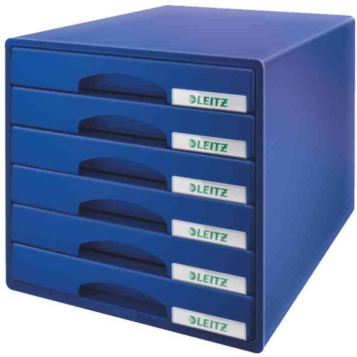 Bloc de classement Plus 6 tiroirs - Bleu