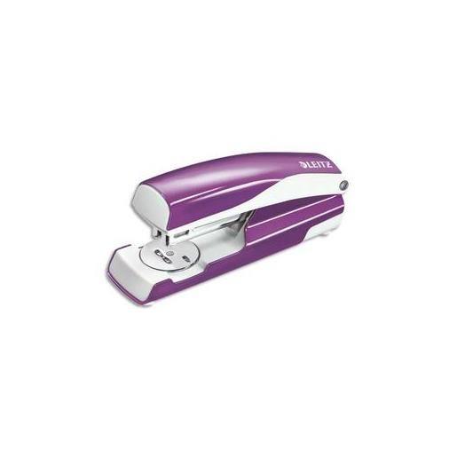 LEITZ Agrafeuse NEXXT violet - En métal - Capacité 30 feuilles - Agrafes 24/6…