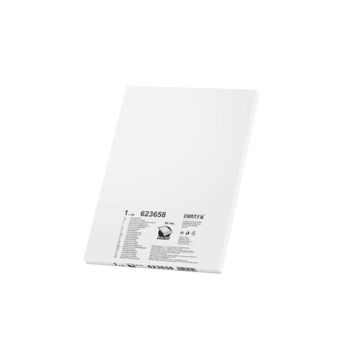 Boîte de 100 Pochettes de Plastification A4 2X80 Microns Transparent Lisse - boî