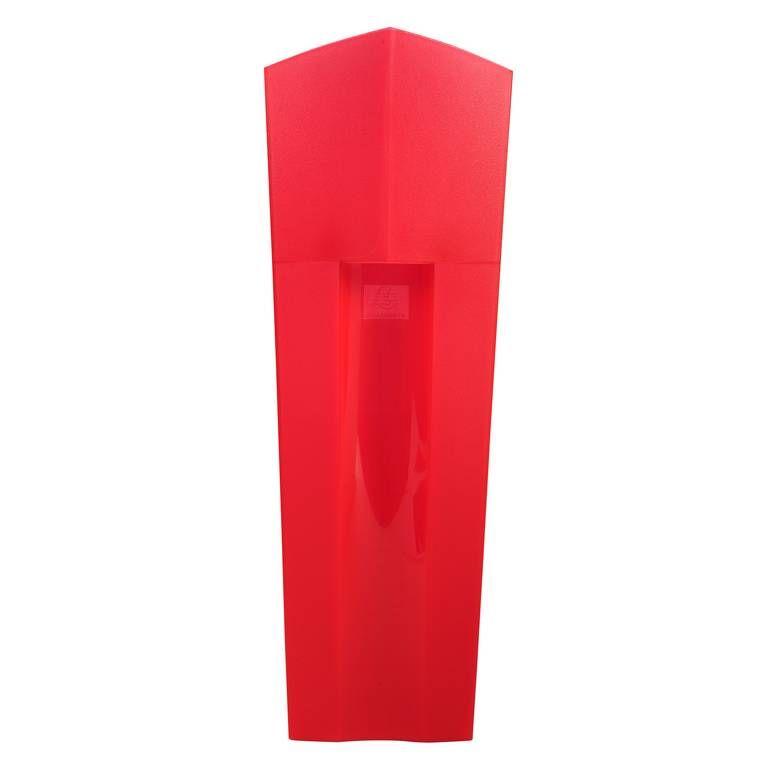 Classeur-à-revues THE MAGAZINE Deco rouge carmin transparent