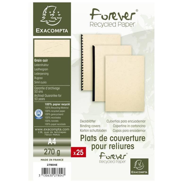 Plats couv FOREVER A4 270g ivoire - Paquet de 25