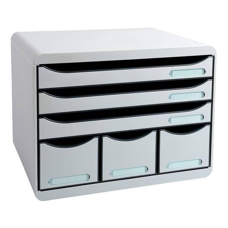 STORE-BOX MAXI 6 tiroirs ( 3 A4+) Office gris lumière