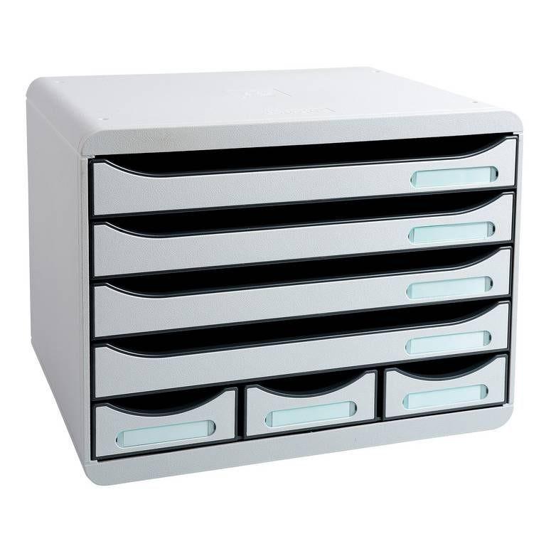 STORE-BOX MINI Bloc Classement 7 tiroirs Office gris lumière