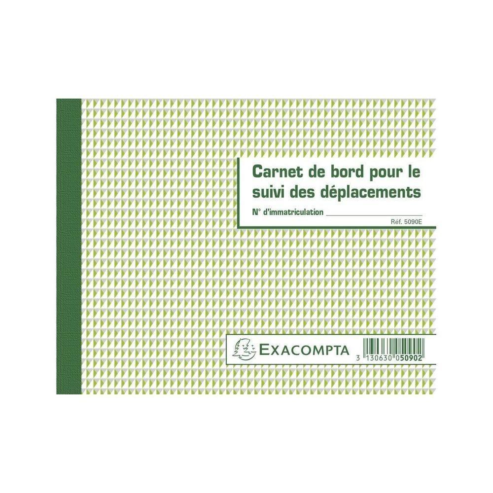Carnet de bord pour le suivi des déplacements - Format 14,8x19 cm