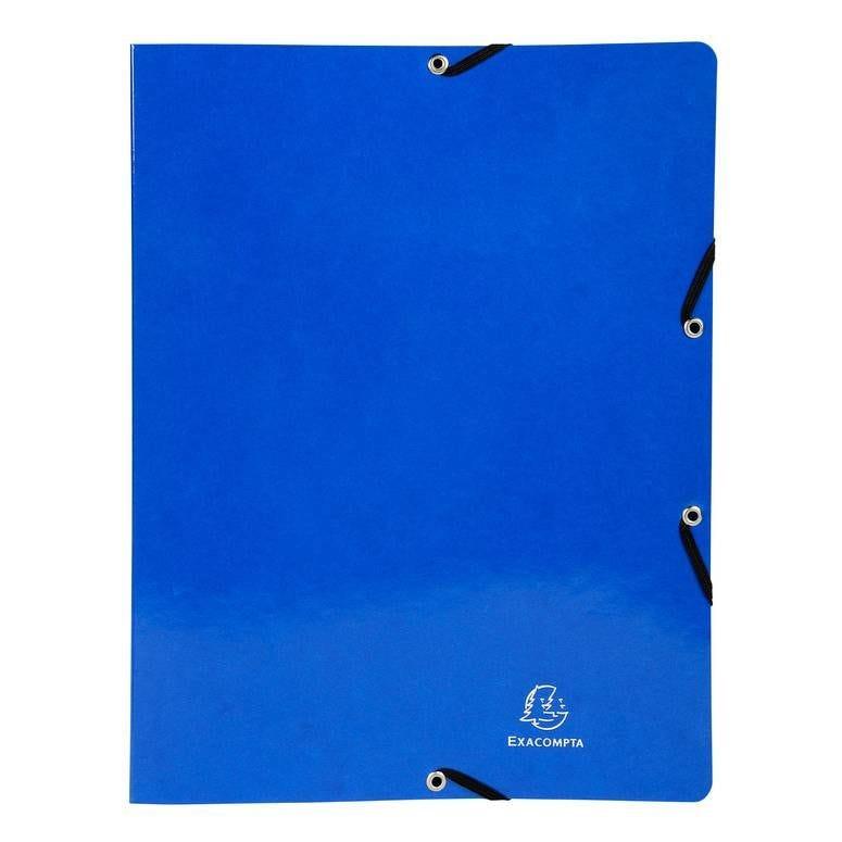 Classeur à élastiques 4 anneaux 15mm Iderama - A4, bleu foncé