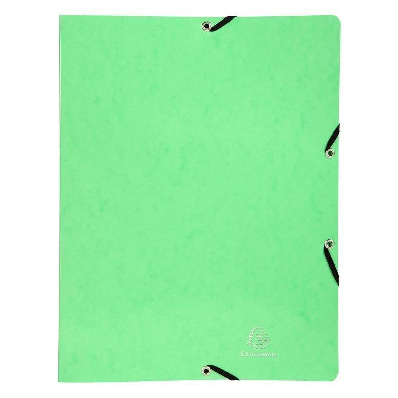Classeur à élastiques 4 anneaux 15mm Iderama - A4, vert anis