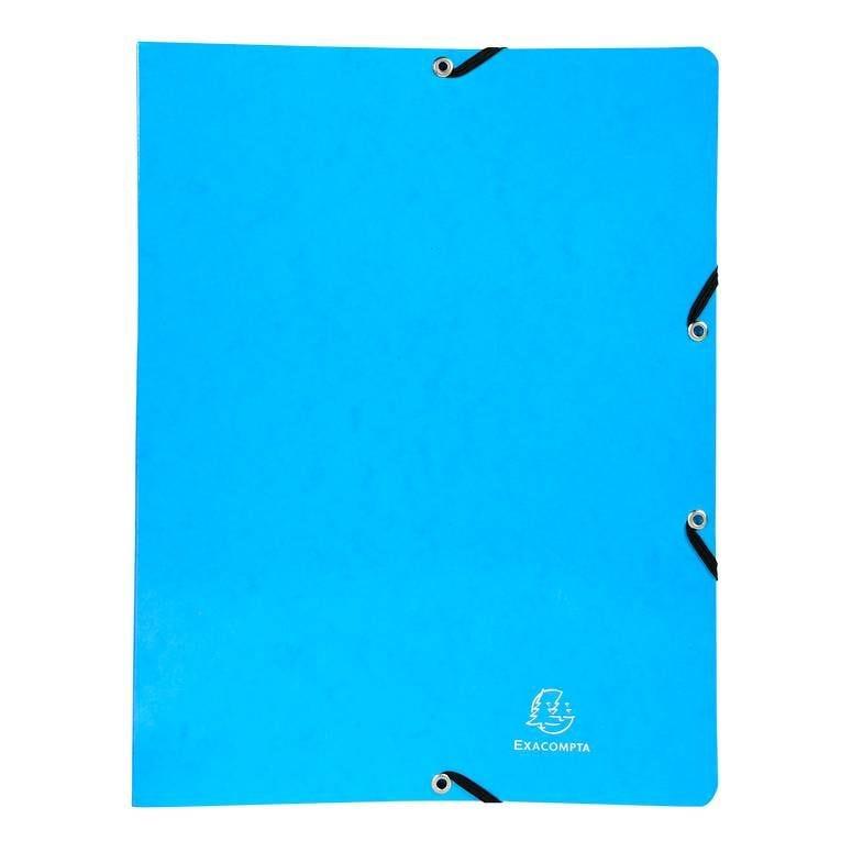 Classeur à élastiques 4 anneaux 15mm Iderama - A4, bleu clair