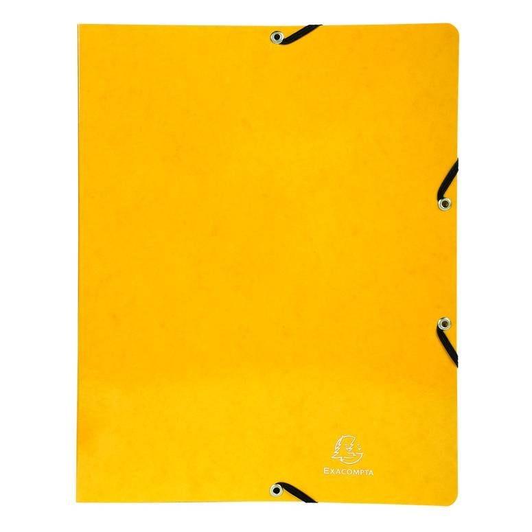 Classeur à élastiques 4 anneaux 15mm Iderama - A4, jaune