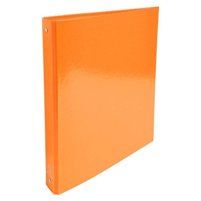 Classeur A4 4 anneaux 30mm Iderama, orange