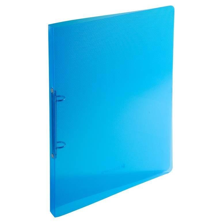 Classeur 2 anneaux 15 mm polypropylène Crystal colours - A4, bleu