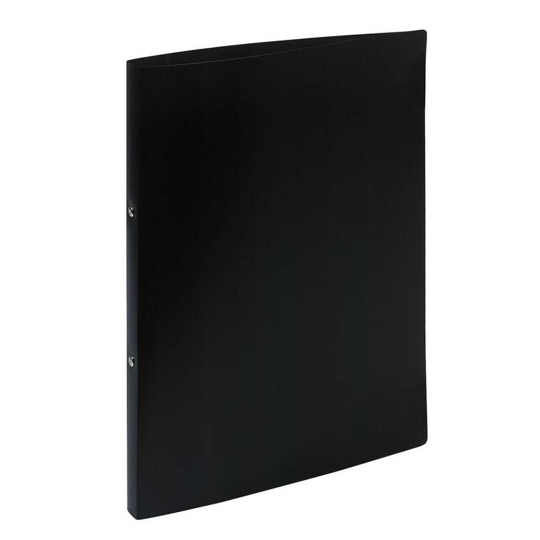 Classeur 2 anneaux 15 mm polypropylène Opaque A4, noir