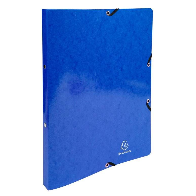 Classeur à élastiques 2 anneaux 15mm Iderama - A4, bleu foncé