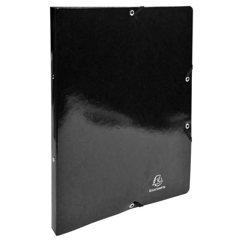 Classeur à élastiques 2 anneaux 15mm Iderama - A4, noir