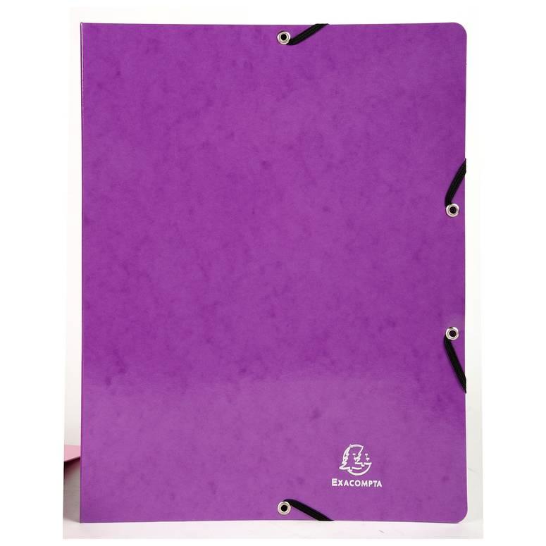 Classeur à élastiques 2 anneaux 15mm Iderama - A4, violet