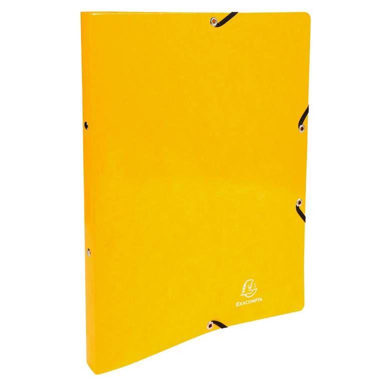 Classeur à élastiques 2 anneaux 15mm Iderama - A4, jaune