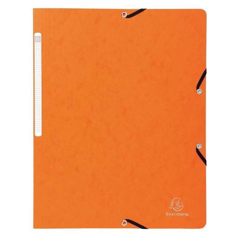 Chemise à élastique sans rabat carte lustrée 355g A4 Orange