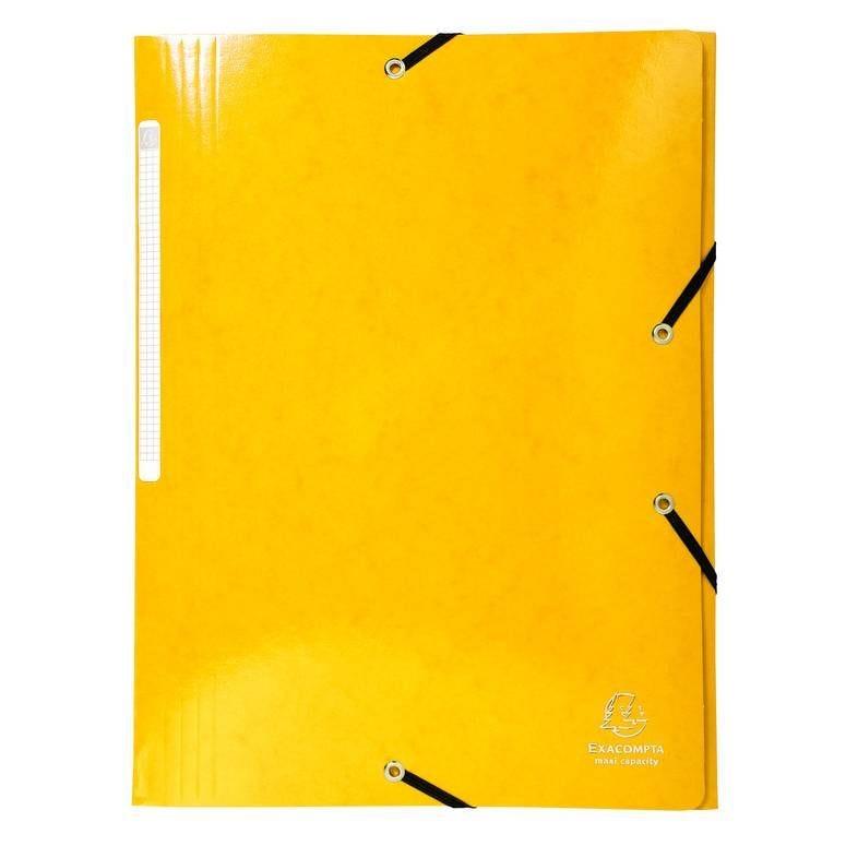 Chemise 3 rabats élastiques Max Capacité IDERAMA Carte pelliculée 425g Jaune