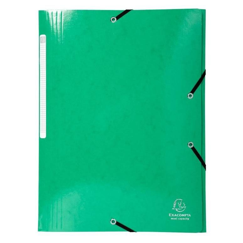 Chemise 3 rabats élastiques Max Capacité IDERAMA Carte pelliculée 425g Vert