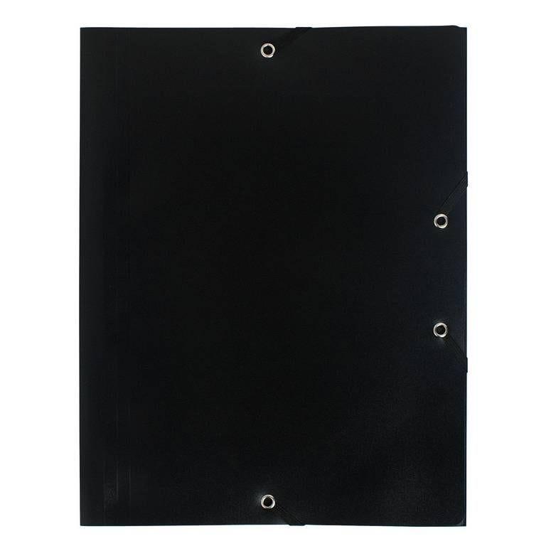 Chemise à élastique 3 rabats Polypropylène 4/10e Opaque Eco A4 Noir