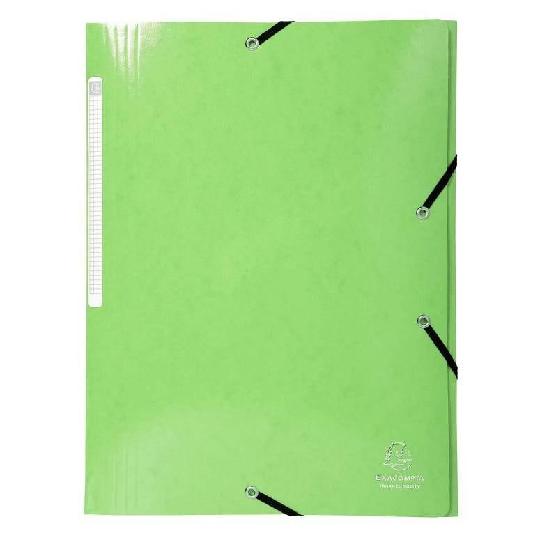 Chemise à élastique 3 Rabats IDERAMA Maxi Capacité Carte 600g pelliculée Vert…