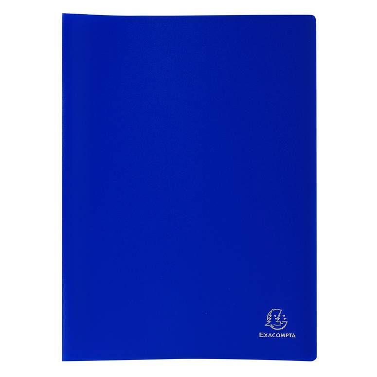 Protège-documents PP Souple Pochettes grainées Opaque 80 vues A4 Bleu