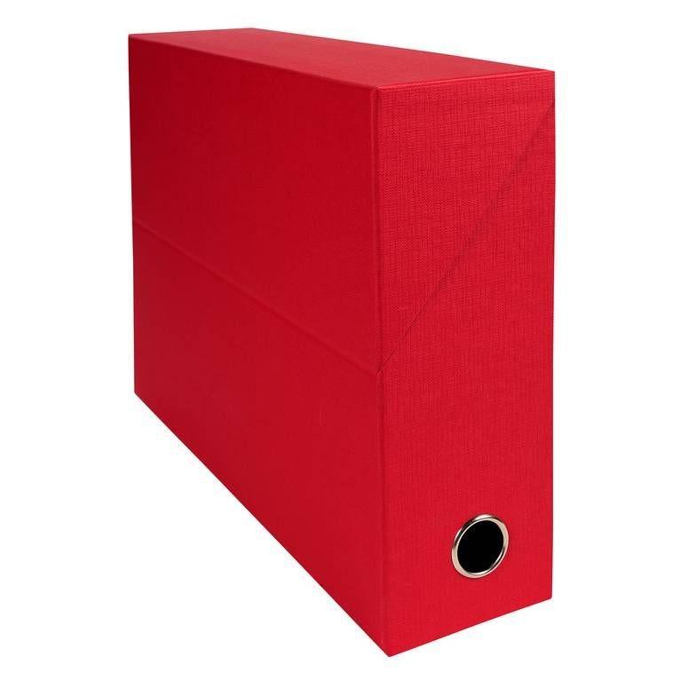 Boîte transfert D90 papier toile rouge