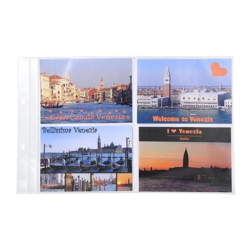 Pochettes perforées pour classeur de cartes postales - Format 38 - Sachet de 10