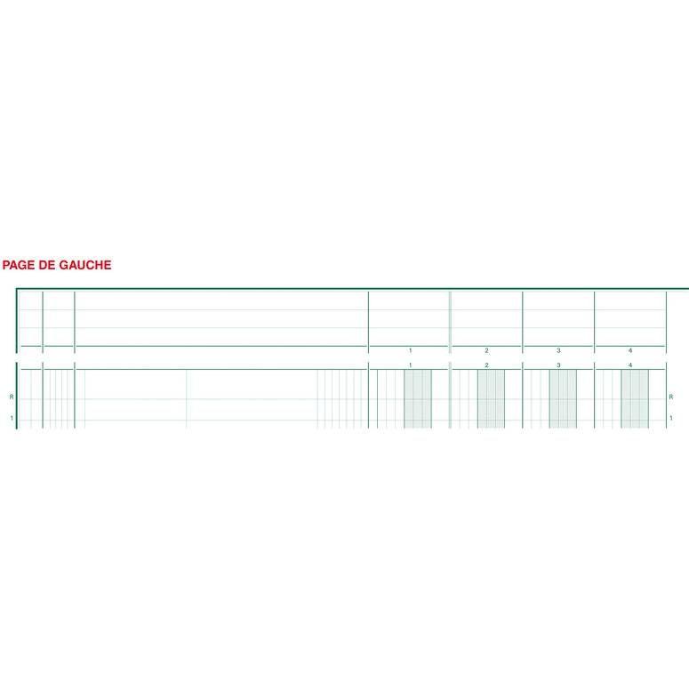 Piqûre 32x25cm à tête paresseuse 13 colonnes sur 2 pages 31 lignes 80pages