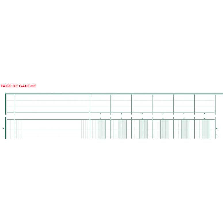Piqûre 32x25cm à tête paresseuse 16 colonnes sur 2 pages 31 lignes 80pages