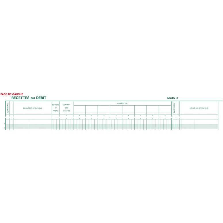 Journal 380x297mm 33 Lignes 80 Pages Caisse Banque Opérations Comptables 2 Lib…