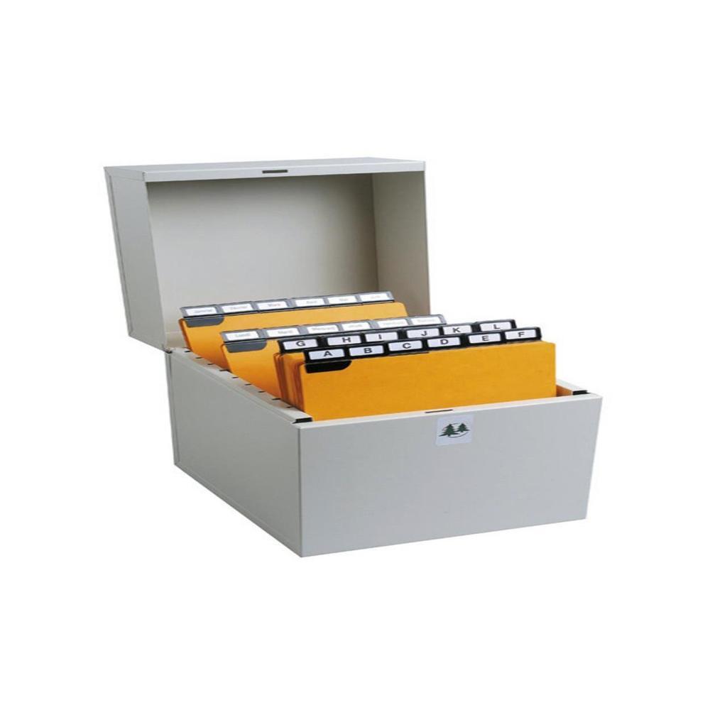 Boîte à fiches Metalib pour 500 fiches horizontales 125x200mm 148x210 mm