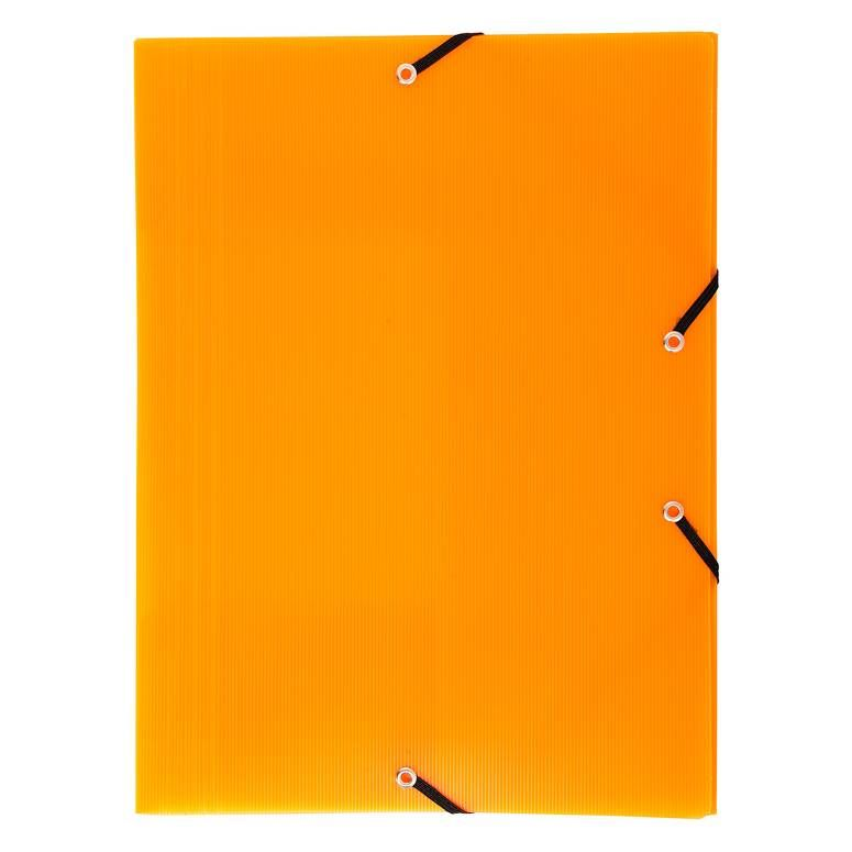 Chemise à élastiques 3 rabats polypro 8/10e Linicolor A4 Coloris Aléatoire