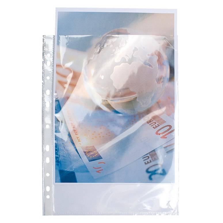 pochettes perforées polypropylène lisse haute résistance 9x100e A4 - par lot de