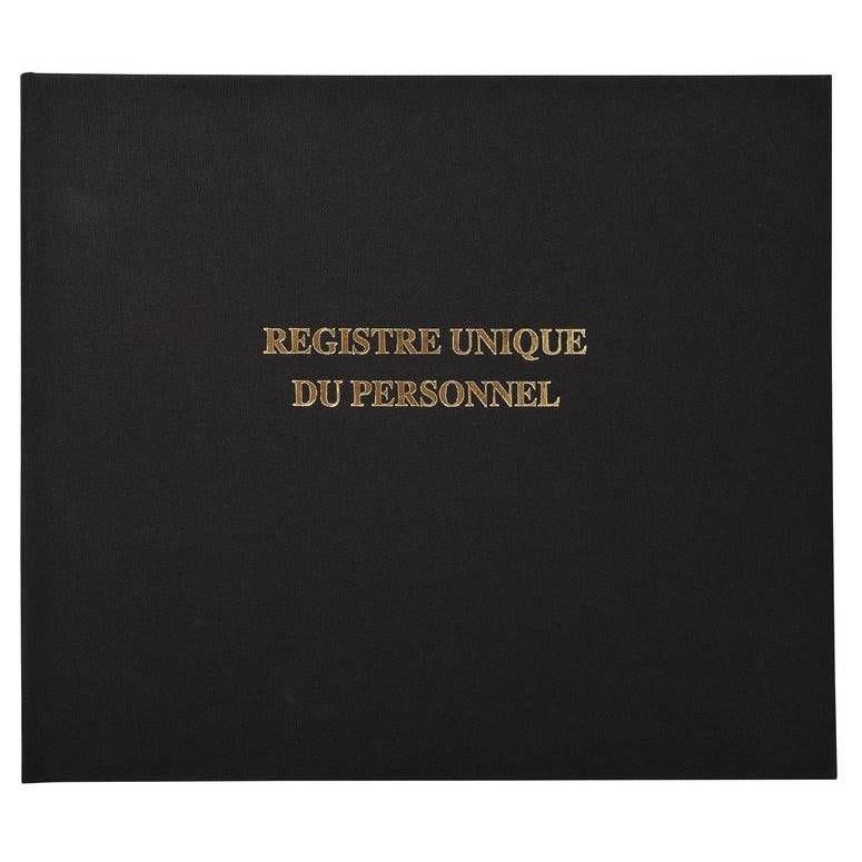 Registre 27x32cm - Registre unique du personnel (salariés et stagiaires) - 10…
