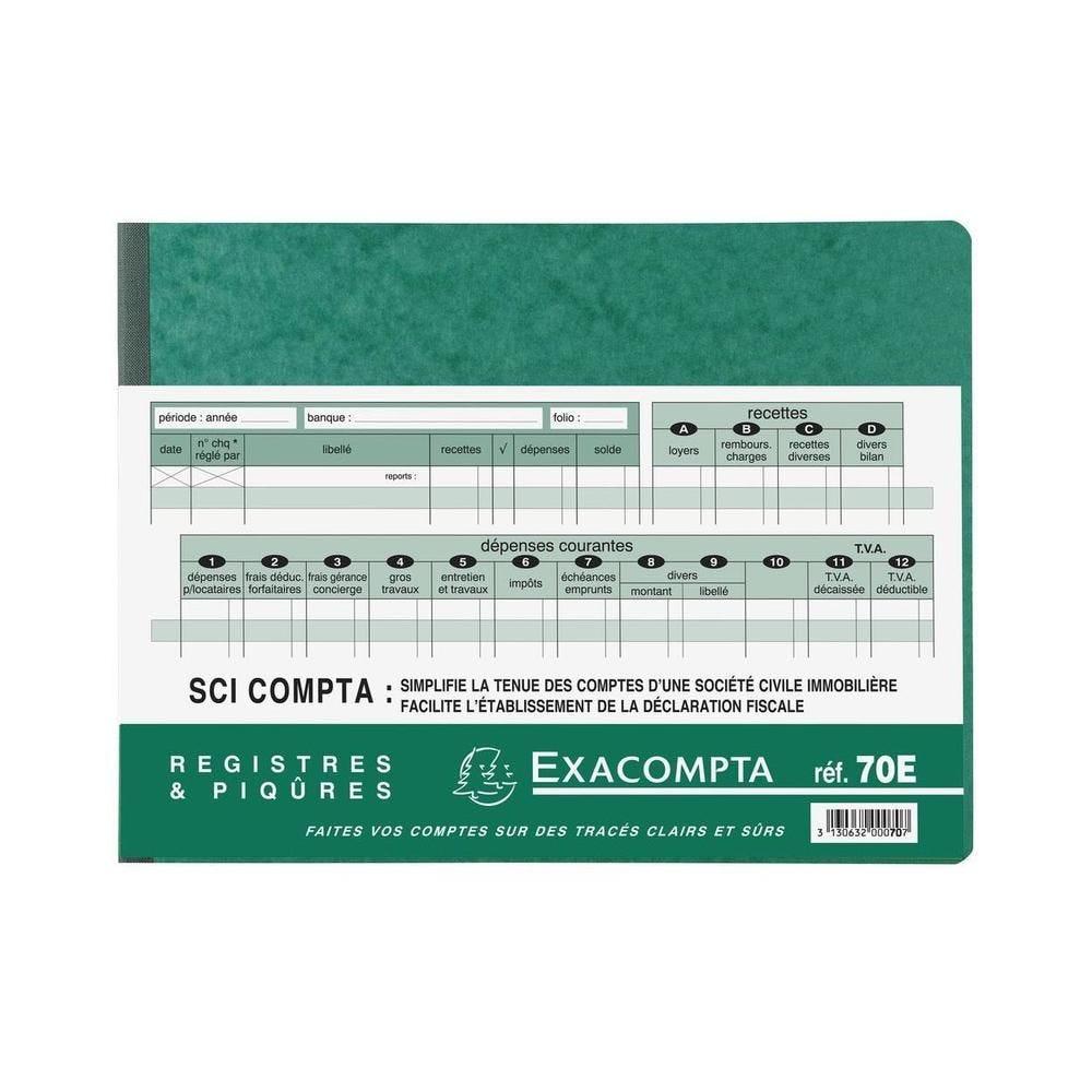 Piqûre 24x32cm - SCI Compta 96 pages