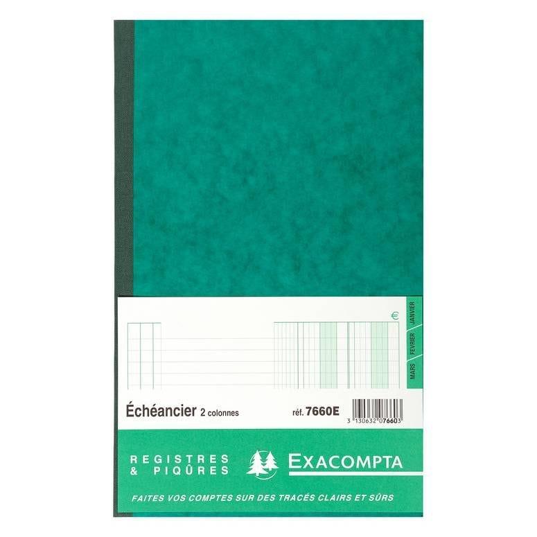 Piqûre 32x19,5cm echeancier 80 pages