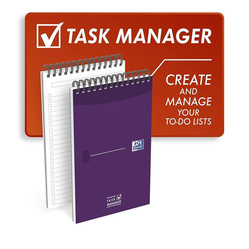 Bloc Notes TASK MANAGER Spirale Dessus 125x200 140P 90G LIGNE 8