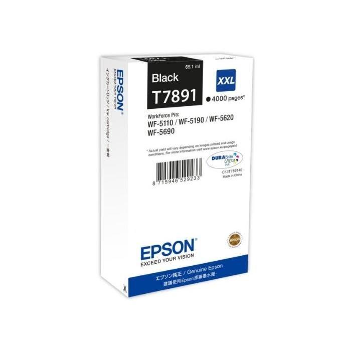 Cartouche d'encre XXL T789140 pour Imprimante WF5110WF 4000 Noir
