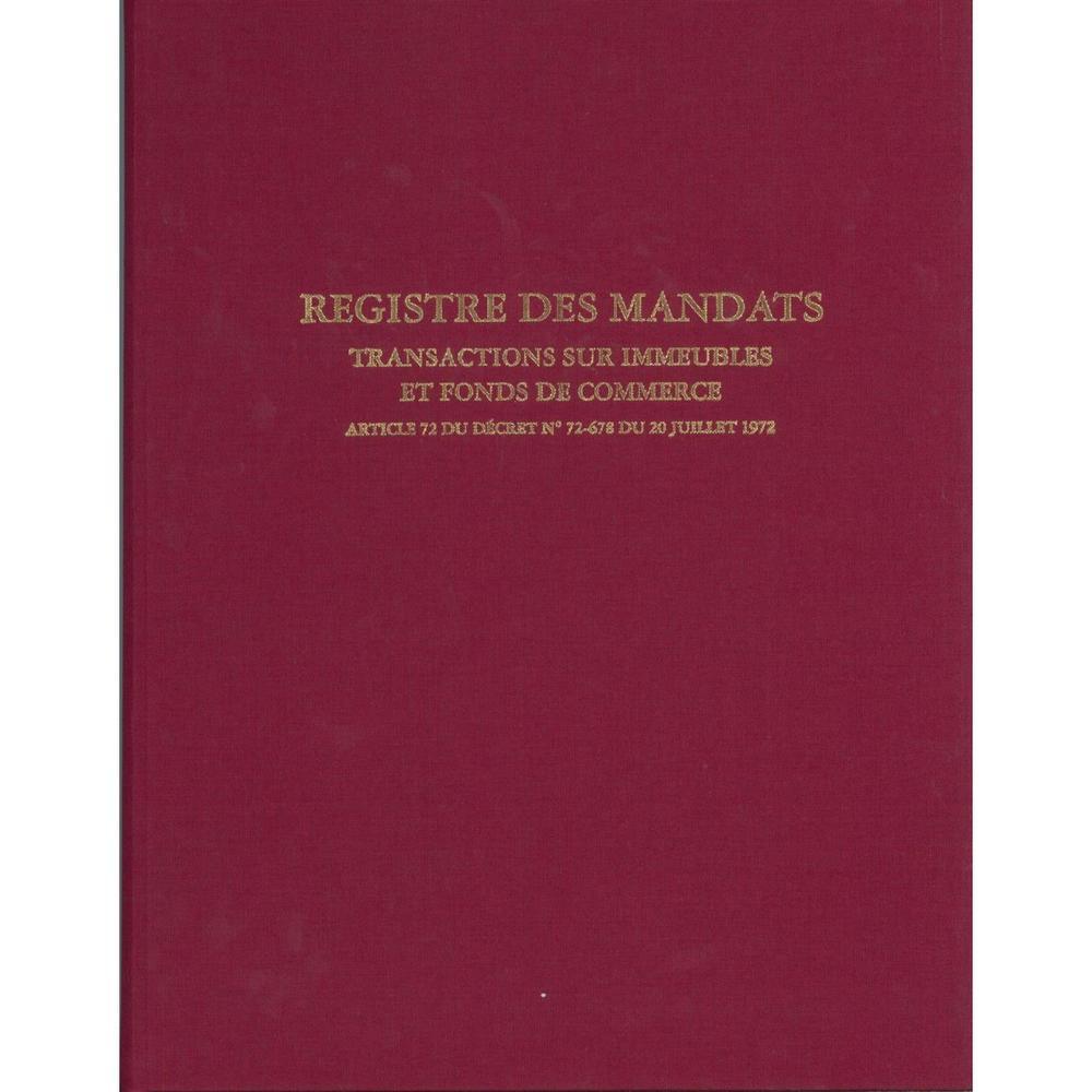 REGISTRE Immobilier - MANDAT TRANSACTION IMMEUBLE & FONDS COMMERCE 32X25 200 P.